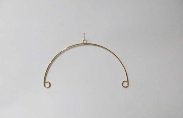 Mobilebügel 12,5 cm, vergoldet